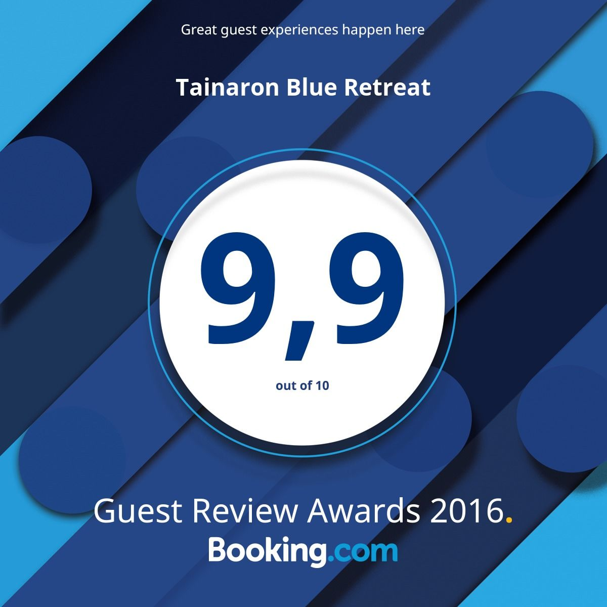 Booking.com — 2016 Award Winner